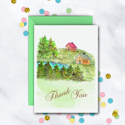 Country Hilltop TY Notecard