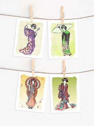 Japanese Beauties Note Set