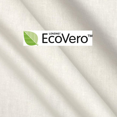 ECOVERO™ 130gsm. Woven Lenzing eco-viscose. WHITE or READY FOR PRINT