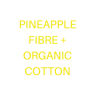 Pineapple+ GOTS Organic Cotton.  Handloom. WHITE