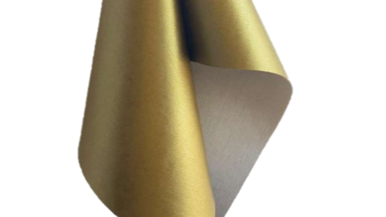 Gold Cactus Leather with 50% Recycled Polyester 50% Recycled Cotton Backing