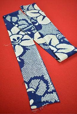 8 Japanese vintage kimono Boro fabric cotton 165x11.5cm