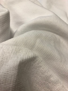 Snug Organic Cotton UnBrushed Fleece Single Side Terry, 320/330gsm. PLAIN