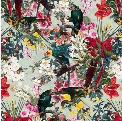 Botanical 13. Eco-Digital printing on choice EcoVero, Tencel Satin or Modal
