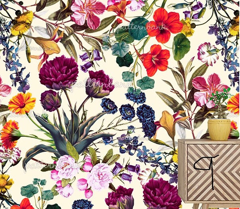 Botanical 9. Eco-Digital printing on choice EcoVero, Tencel Satin or Mod