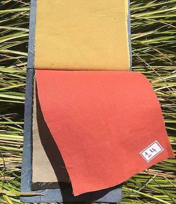 BRICK RED. Plain. ORGANIC COTTON. Price $10.60/m* >250m