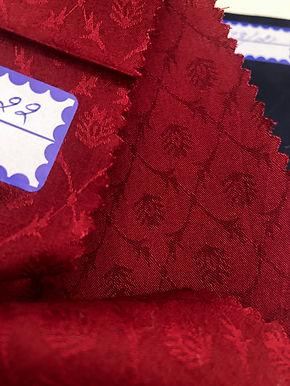 Modal & Cotton Jacquard P6. Floral Diamond Pattern. Deep Burgundy