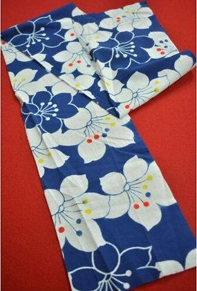 15 Japanese vintage kimono Boro fabric cotton 132x17.5cm