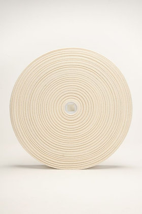 40mm x 100m Elastic65% ORGANIC COTTON 35% NATURAL RUBBER