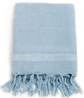Handloom Linen Scarf. INDIGO SKYE; Hand Dyed w.Plant Dyes