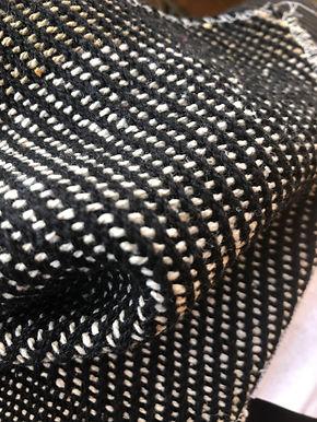 Herringbone Black Handloom 100% organic cotton