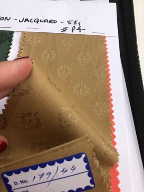 Modal & Cotton Jacquard P4. Crown Pattern. Sandy Gold