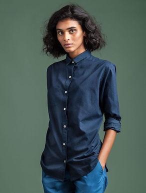 Classic Shirt. IRON INDIGO. GOTS Organic Cotton; Hand Dyed w.Plant Dyes.