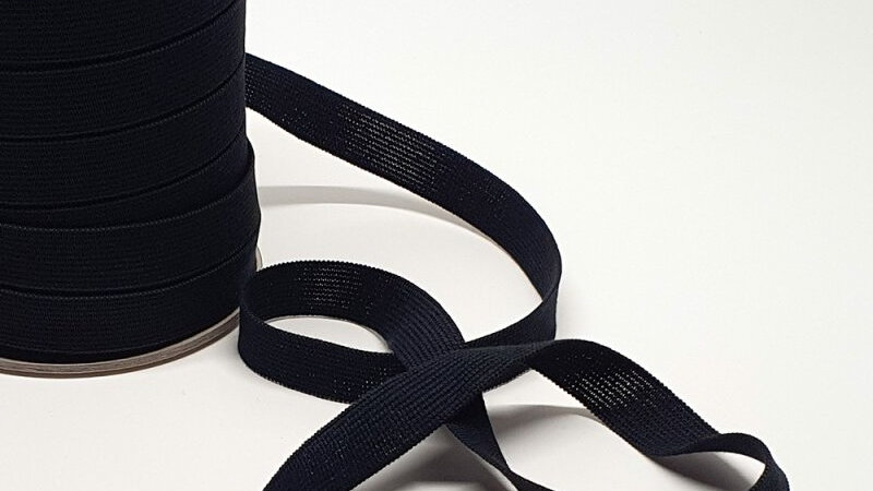 Natural Rubber Elastic with Organic Cotton. 18mm