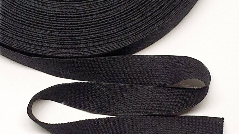 Natural Rubber Elastic with Organic Cotton. 28mm