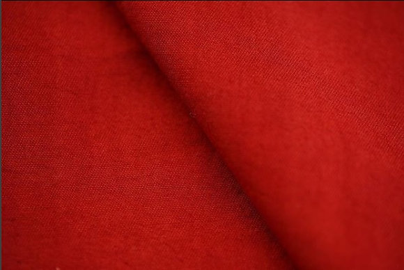 320gsm BRICK RED. Plain. ORGANIC COTTON. Price $25.55/m* >100m