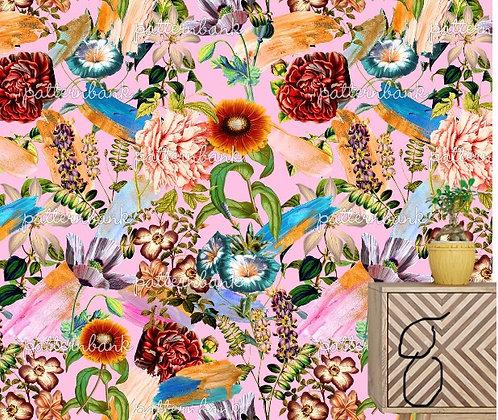 Botanical 8. Eco-Digital printing on choice EcoVero, Tencel Satin or Mod