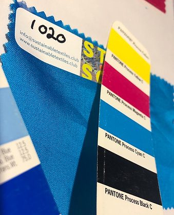 20 MODAL™  Twill. 135gsm. 1020 Bright Turquoise Pantone Cyan