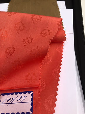 Modal & Cotton Jacquard P4. Crown Pattern. Coral