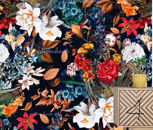 Botanical 4. Eco-Digital printing on choice EcoVero, Tencel Satin or Mod