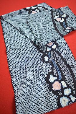 6 Japanese vintage kimono Boro fabric cotton 150x34cm