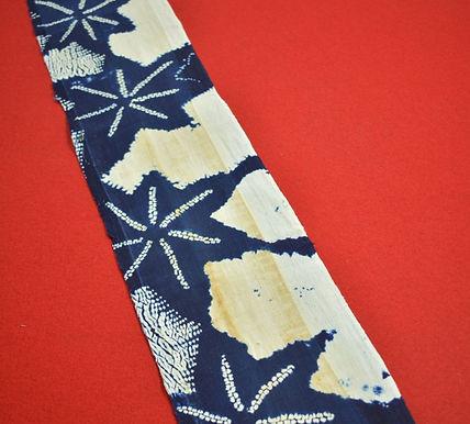 18 Japanese vintage kimono Boro fabric cotton 180x16cm