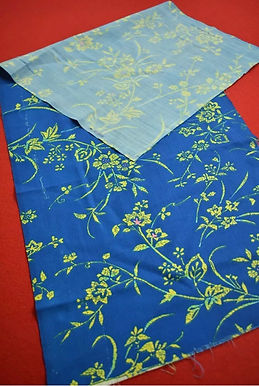 6 Japanese vintage kimono Boro fabric wool - 97x37cm