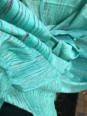 THULSI & PINK. 5m SAMPLING. Ayurvastra Ahimsa Silk/Peace Silk