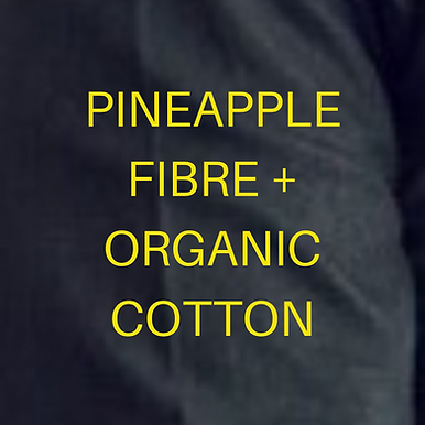 Pineapple+ GOTS Organic Cotton.  Handloom.BLACK