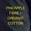 Thumbnail: Pineapple+ GOTS Organic Cotton.  Handloom.BLACK