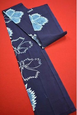 16 Japanese vintage kimono Boro fabric cotton 183x16cm