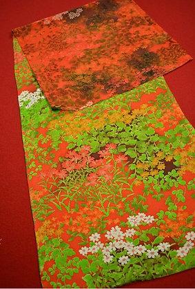 4. Japanese vintage kimono Boro fabric silk 122x35cm