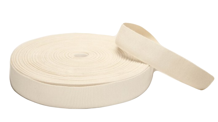 Natural Rubber Elastic with Organic Cotton. 40mm