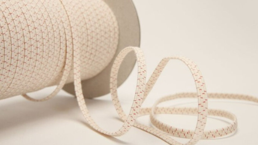 Natural Rubber Elastic with Organic Cotton. 5mm