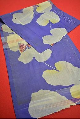 9 Japanese vintage kimono Boro fabric silk- 106x35cm