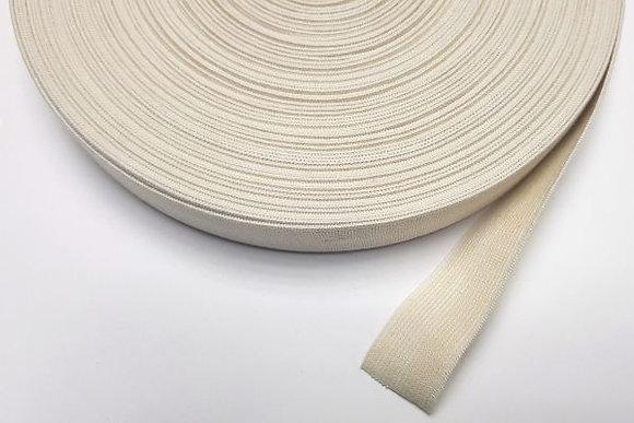 28mm - 25m sample. Elastic 65% Organic Cotton 35% Natural Rubber
