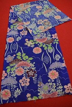 8 Japanese vintage kimono Boro fabric wool