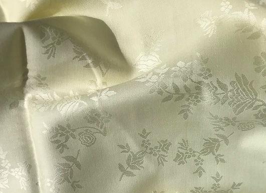 MODAL & Cotton Jacquard Butter Cream. Sampling 10m minimum.  aud$27/m.