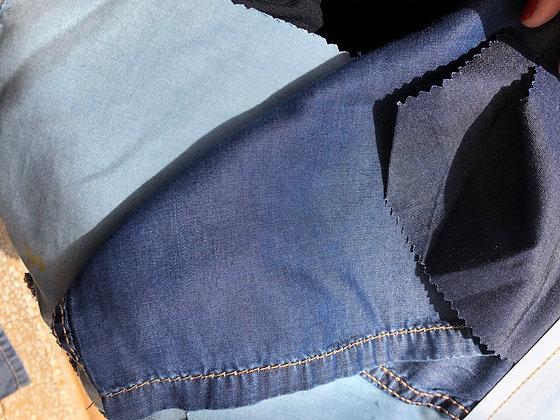TENCEL DENIM. Indigo Sapphire Blue. 100% TENCEL. Woven. 5.5oz/186gsm