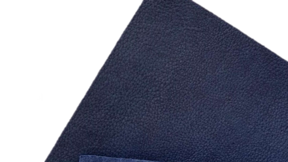 Navy Cactus Leather with 100% Recycled Cotton Backing