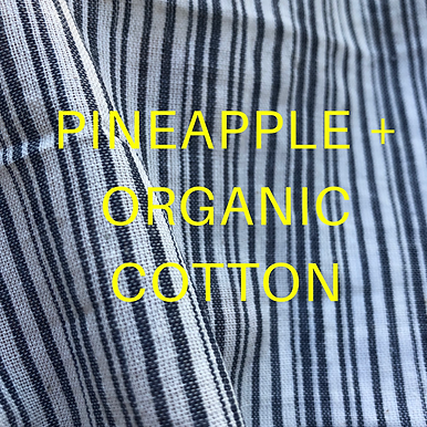 Pineapple+ GOTS Organic Cotton.  Handloom. Stripe