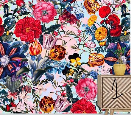 Botanical 1. Eco-Digital printing on choice EcoVero, Tencel Satin or Modal Twill