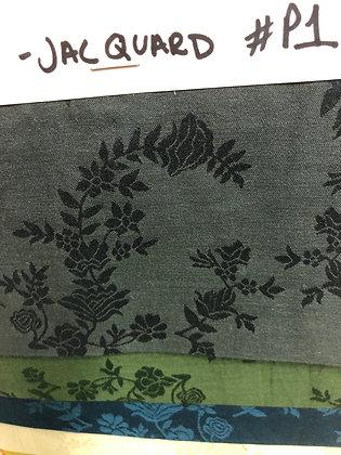 MODAL Cotton Jacquard. Dark Grey. 3+m Sampling.  $27 per metre