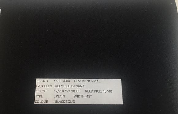 Organic Cotton & BANANA. #1. BLACK