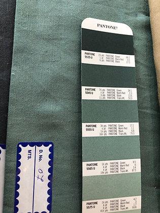 Tencel & Flax Cotton 07 Green similar to Pantone 555U