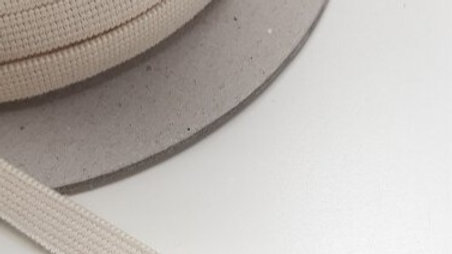 Natural Rubber Elastic with Organic Cotton. 9.5 mm