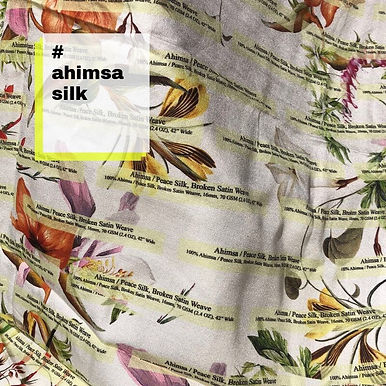 2b. 100% Ahimsa Peace Silk Broken Satin Weave . 16mm. 70gsm
