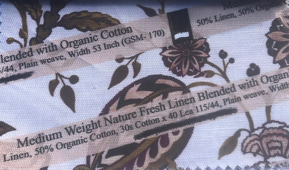 L3. Med Wt Blend of Nature Fresh Linen Organic Cotton 10m MOQ