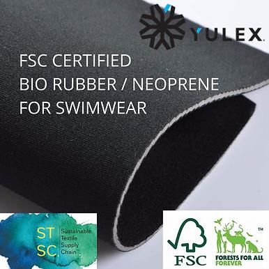FSC BIO RUBBER/NEOPRENE. 110x220cm - 1sheet. Black. No Lining