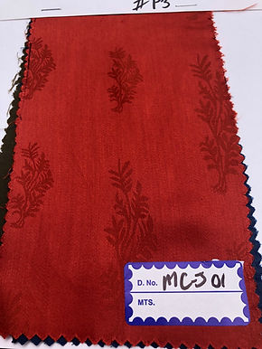 Modal & Cotton Jacquard P3. SMALL FLORAL.Rust Red